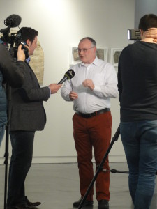 Vincent McDonnell with Irish TV.